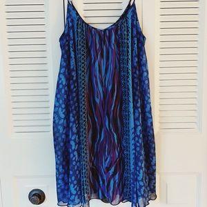 Express Patterned Dress, Size Medium